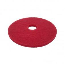 Полировочный, шлифовальный  пад Красный. 406 х 20 мм.